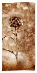 Artichoke Bloom Hand Towel by La Rae  Roberts