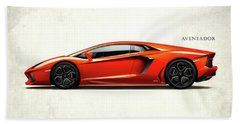 Lamborghini Aventador Hand Towel by Mark Rogan