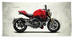 Ducati Monster Hand Towel by Mark Rogan