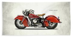 Indian Sport Scout 1940 Hand Towel by Mark Rogan