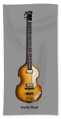 Hofner Violin Bass 62 Hand Towel by Mark Rogan