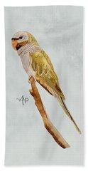 Derbyan Parakeet Hand Towel by Angeles M Pomata