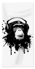 Monkey Business Hand Towel by Nicklas Gustafsson