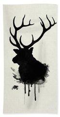 Elk Hand Towel by Nicklas Gustafsson