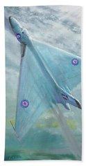 Avro Vulcan B1 Night Flight Hand Towel by Vincent Alexander Booth