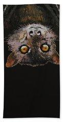 Bat Hand Towel by Michael Creese