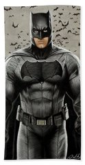 Batman Ben Affleck Hand Towel by David Dias