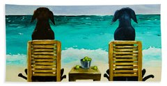 Beach Bums Hand Towel by Roger Wedegis