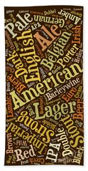 Beer Lover Cell Case Hand Towel by Edward Fielding