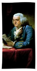 Ben Franklin Hand Towel by War Is Hell Store