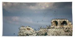 Birds Island Hand Towel by Joana Kruse