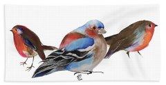Birds Of A Feather Hand Towel by Nancy Moniz