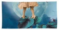 Blue Moon Hand Towel by Olga Snell