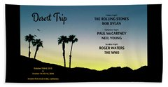 Blue Sky Sunset From A Desert Trip Hand Towel by Desiderata Gallery