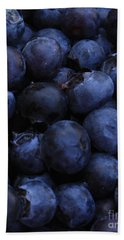 Blueberries Close-up - Vertical Hand Towel by Carol Groenen