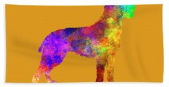 Bohemian Wirehaired Pointing Griffon In Watercolor Hand Towel by Pablo Romero