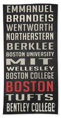 Boston Collegetown Hand Towel by Edward Fielding