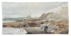 Boys On The Beach Hand Towel by Winslow Homer