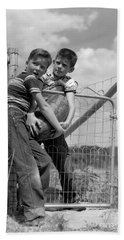 Boys Stealing A Watermelon, C.1950s Hand Towel by H. Armstrong Roberts/ClassicStock