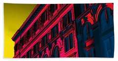 Broadway 118 In Fuschia Hand Towel by Edgar Farrera