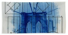 Brooklyn Bridge Hand Towel by Jane Linders