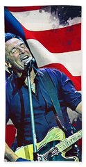 Bruce Springsteen Hand Towel by Afterdarkness