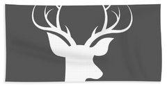 Buck Deer Hand Towel by Chastity Hoff