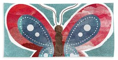 Butterfly Freedom Hand Towel by Linda Woods