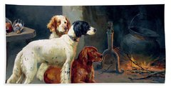 By The Fire Hand Towel by Alfred Duke