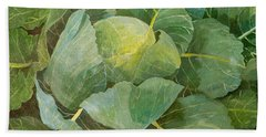 Cabbage Hand Towel by Jennifer Abbot