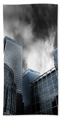 Canary Wharf Hand Towel by Martin Newman