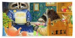 Candles On The Cake Hand Towel by Lynn Bywaters