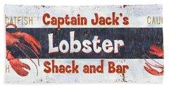 Captain Jack's Lobster Shack Hand Towel by Debbie DeWitt