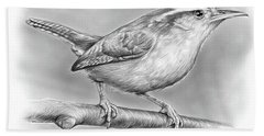 Carolina Wren Hand Towel by Greg Joens