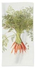 Carrots Hand Towel by Margaret Ann Eden