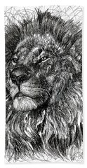 Cecil The Lion Hand Towel by Michael  Volpicelli