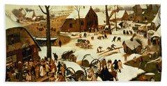 Census At Bethlehem Hand Towel by Pieter the Elder Bruegel