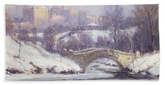 Central Park Hand Towel by Colin Campbell Cooper