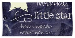 Chalk Board Nursery Rhymes Hand Towel by Mindy Sommers