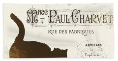 Chat Noir Paris Hand Towel by Mindy Sommers