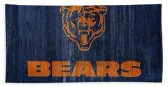 Chicago Bears Barn Door Hand Towel by Dan Sproul