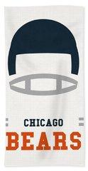 Chicago Bears Vintage Art Hand Towel by Joe Hamilton