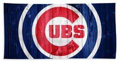 Chicago Cubs Barn Door Hand Towel by Dan Sproul