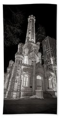 Chicago Water Tower Hand Towel by Adam Romanowicz