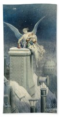 Christmas Eve Hand Towel by Gustave Dore