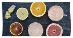 Citrus Smoothies Hand Towel by Elena Elisseeva