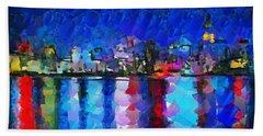 City Limits Tokyo Hand Towel by Sir Josef Social Critic - ART