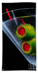 Classic Martini Hand Towel by Michael Godard