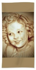 Classic Shirley Temple Hand Towel by Fred Larucci
