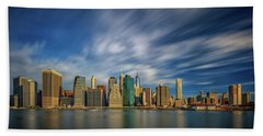 Clouds Over New York Hand Towel by Rick Berk